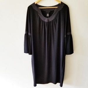 Lane Bryant Black Long Bell Sleeve Dress